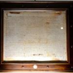 Kopia Reguły w ramie, w której zachowała się oryginalna pieczęć ołowiana